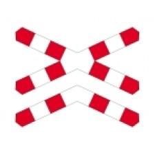 Znak drogowy dodatkowy przed przejazdami kolejowymi G-4